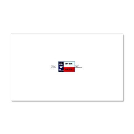SECEDE OR DIE - FREE TEXAS BUMPER STICKEr Car Magn