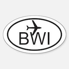 baltimore airport.jpg Sticker (Oval)