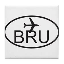brussels airport.jpg Tile Coaster