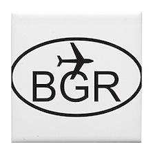 bangor maine airport.jpg Tile Coaster