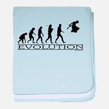Evolution Parkour baby blanket