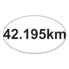42195 km marathon.jpg Decal