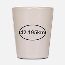42195 km marathon.jpg Shot Glass
