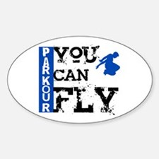 Parkour - You Can Fly Sticker (Oval)
