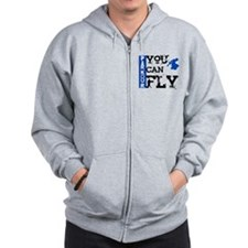 Parkour - You Can Fly Zip Hoodie