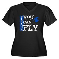 Parkour - You Can Fly Women's Plus Size V-Neck Dar