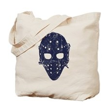 Vintage Hockey Goalie Mask (dark) Tote Bag