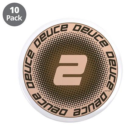 """Deuce #1 3.5"""" Button (10 pack)"""