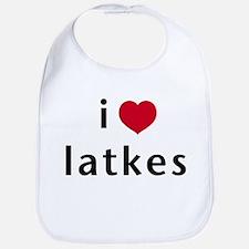 i love latkes Bib