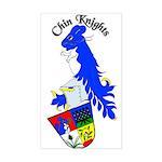 Chin Knights Rectangle Sticker