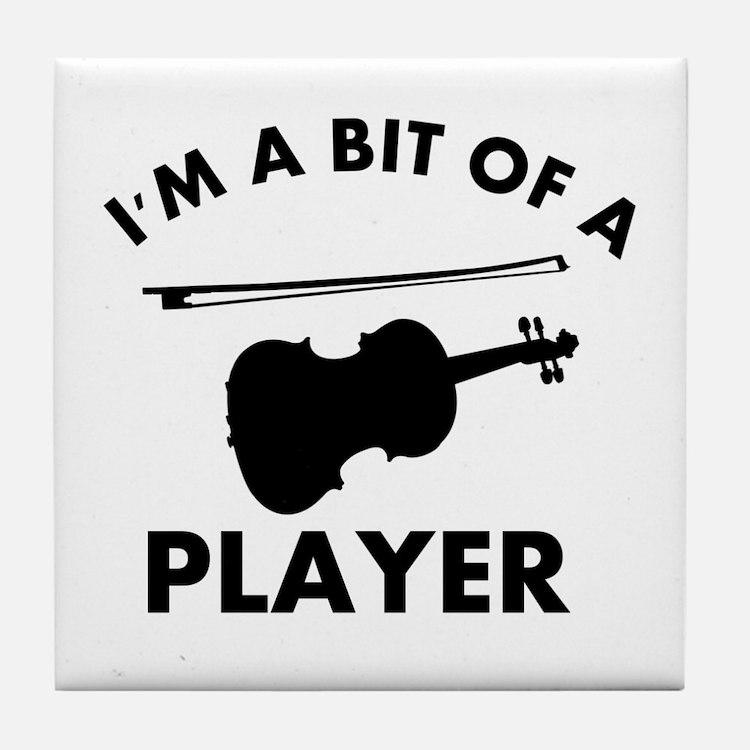 Cool Violin designs Tile Coaster
