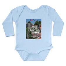 Funicular Long Sleeve Infant Bodysuit