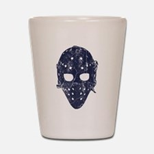 Vintage Hockey Goalie Mask (dark) Shot Glass