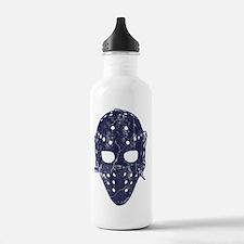 Vintage Hockey Goalie Mask (dark) Water Bottle