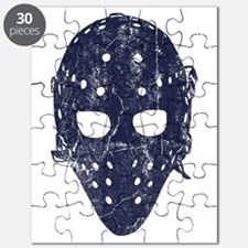 Vintage Hockey Goalie Mask (dark) Puzzle