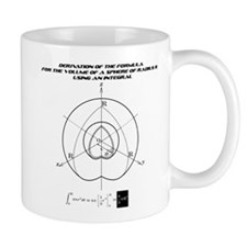 the formula for the volume of a sphere Mug
