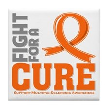 Multiple Sclerosis Fight For A Cure Tile Coaster