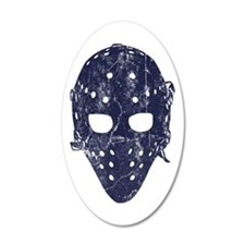 Vintage Hockey Goalie Mask (dark) Wall Sticker