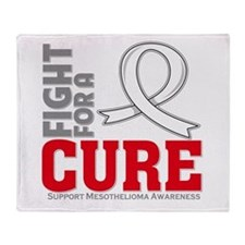 Mesothelioma Fight For A Cure Throw Blanket