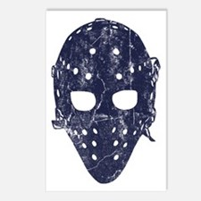 Vintage Hockey Goalie Mask (dark) Postcards (Packa