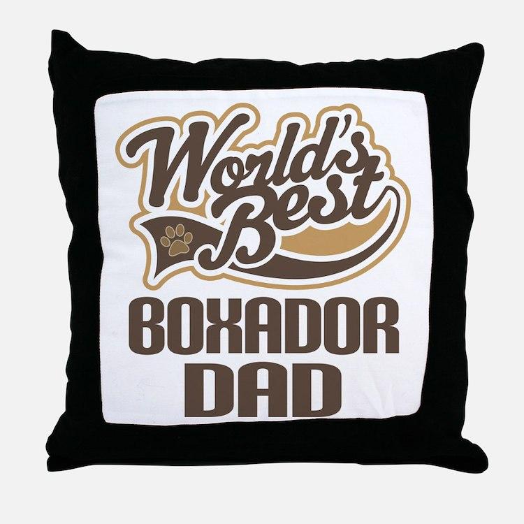 Boxador Dog Dad Throw Pillow