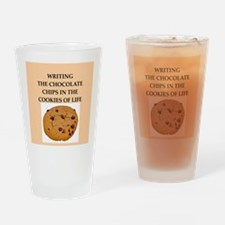 writing Drinking Glass