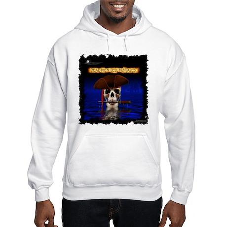 Comadore Skull Rising from Sea Hooded Sweatshirt