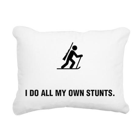 Biathlon Rectangular Canvas Pillow