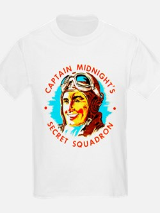 Captain Midnight's Secret Squ Kids T-Shirt