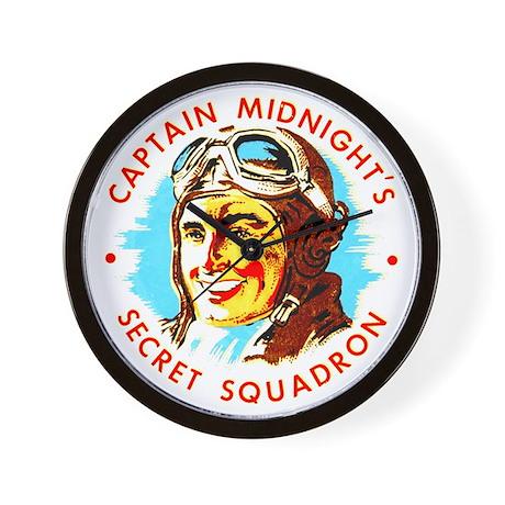 Captain Midnight's Secret Squ Wall Clock