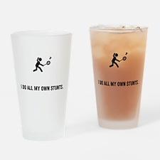 Badminton Drinking Glass