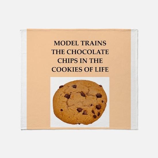 model trains Throw Blanket