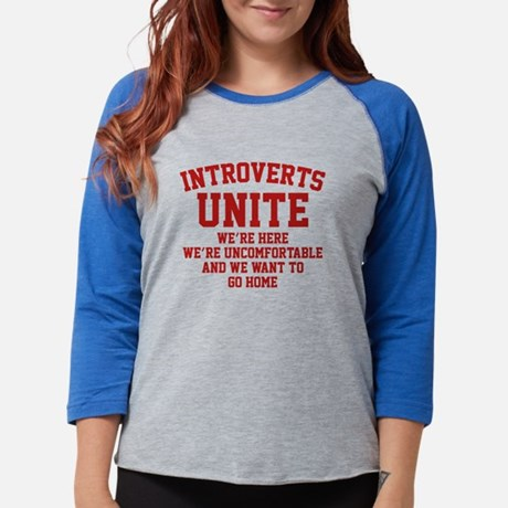 Introverts Unite Home Womens Baseball Tee