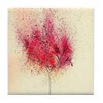 fire tree Tile Coaster