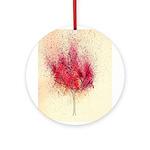 fire tree Ornament (Round)