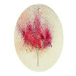 fire tree Ornament (Oval)