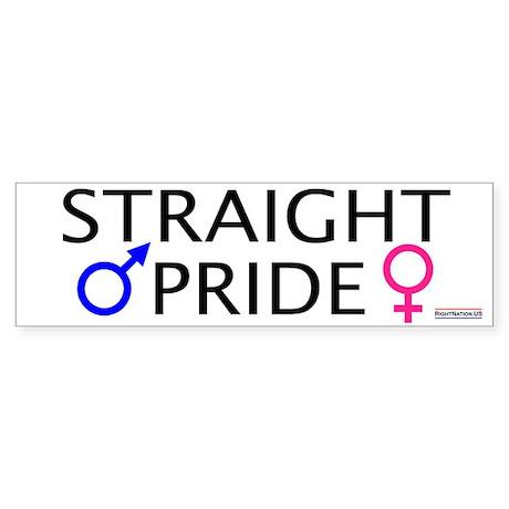 Straight Pride<br>Bumper Sticker