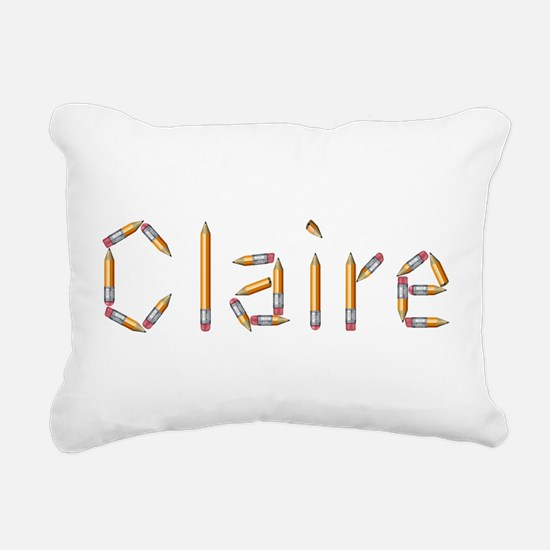 Claire Pencils Rectangular Canvas Pillow