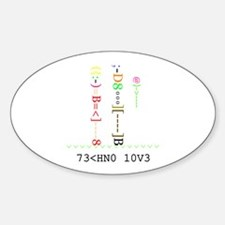 TECHNO LOVE - Oval Decal