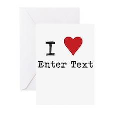 I Love Blank CUSTOM Greeting Cards (Pk of 20)