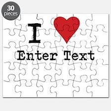 I Love Blank CUSTOM Puzzle