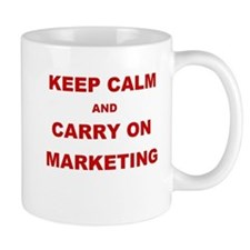 Marketing Keep Calm and Carry On Slogan Mug