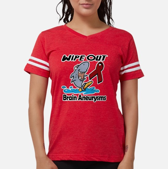 Wipe Out Brain Aneurysms.png Womens Football Shirt