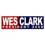 Wes Clark President 2008 (bumper sticker)