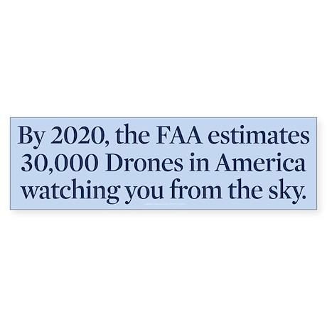 Drone Facts Sticker (Bumper)