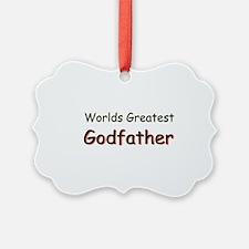 Greatest Godfather Ornament
