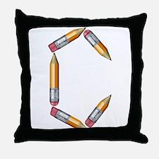C Pencils Throw Pillow