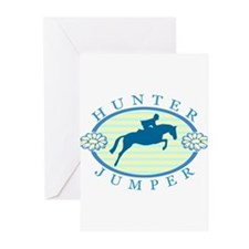 Cute English horseback riding Greeting Cards (Pk of 10)