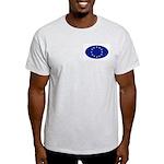 EU Oval Flag Ash Grey T-Shirt