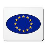 EU Oval Flag Mousepad